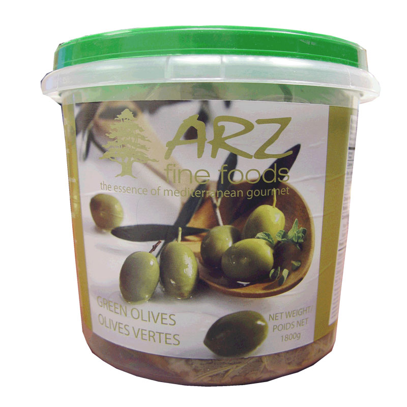 Arz Green Olives 1800g