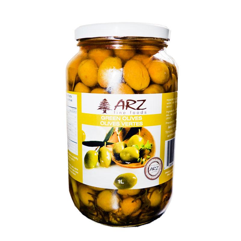 Arz Green Olives-1L