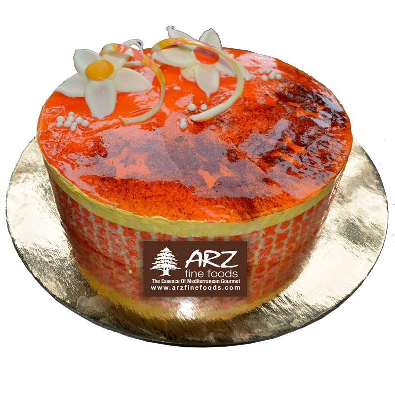 Mango-cake-round