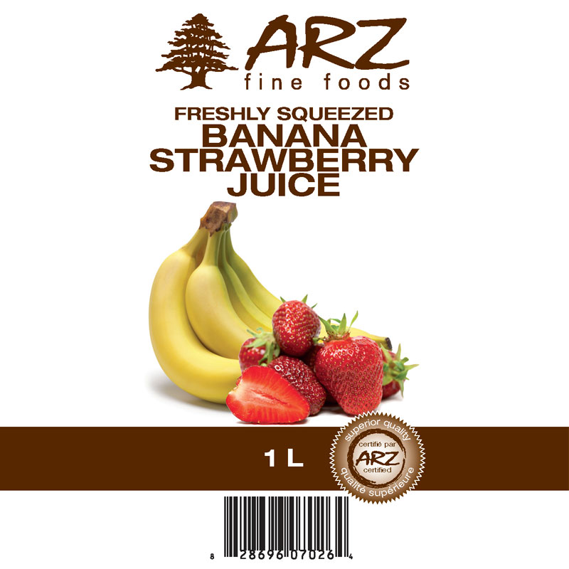 Banana Strawberry Juice 1L