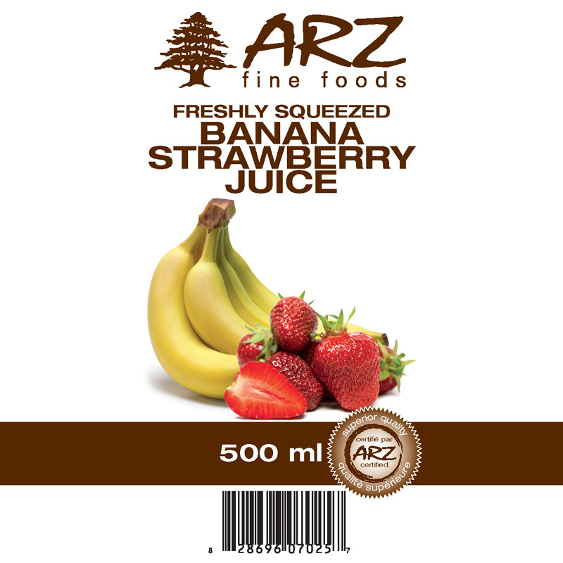 500mL_Banana Strawberry juice