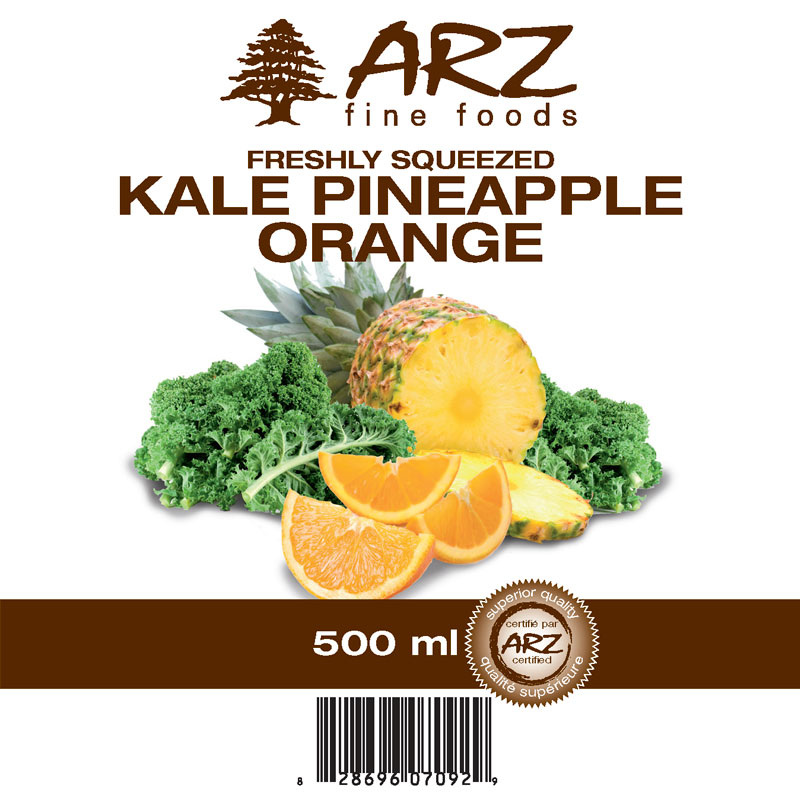 500mL_Kale Pineapple Orange juice