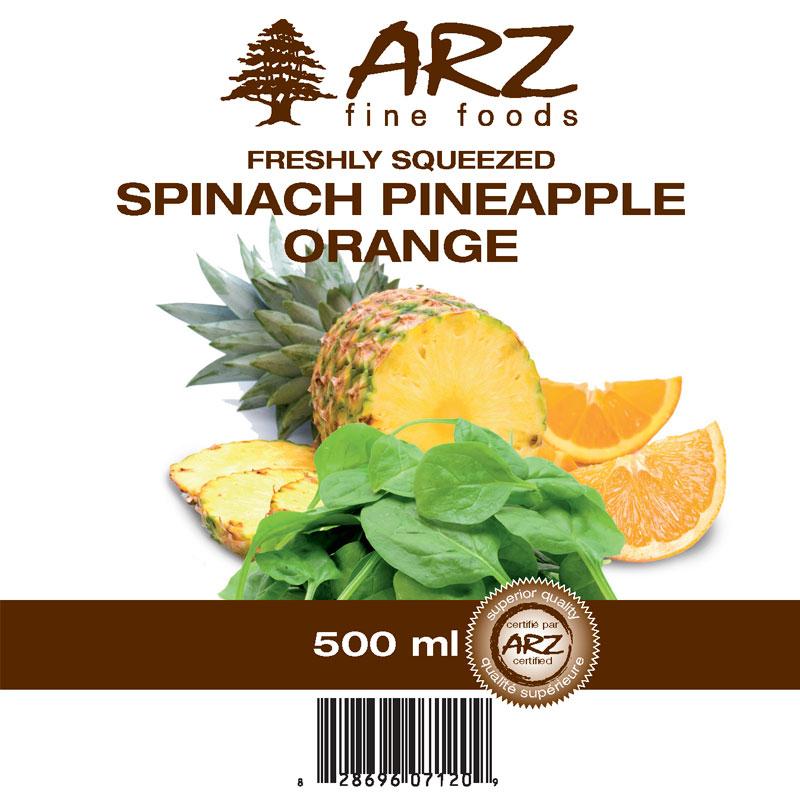 500mL_Spinach Pineapple Orange juice