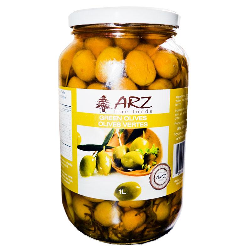 Arz-Green-Olives-1L