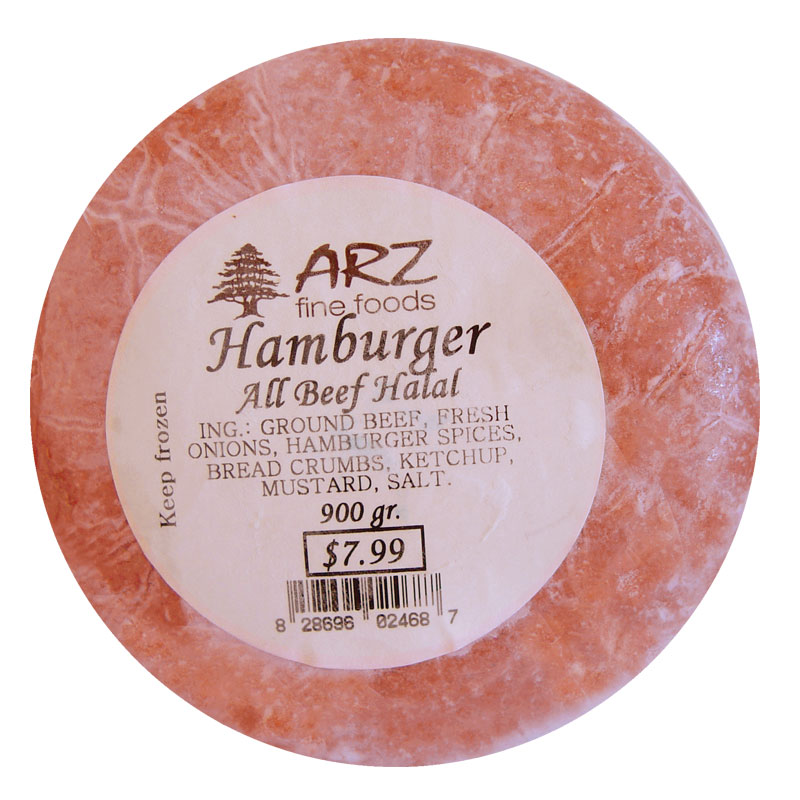 Arz-Hamburger-Allbeef-Halal-900g