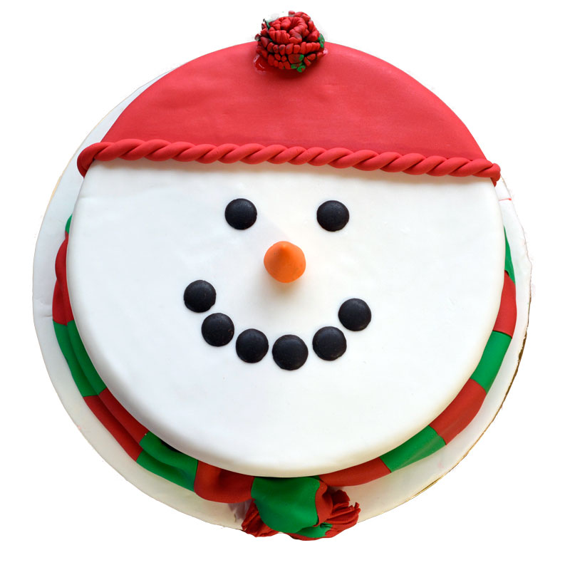 Christmas-Cake Snowman